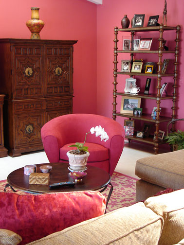 Pink Family Room